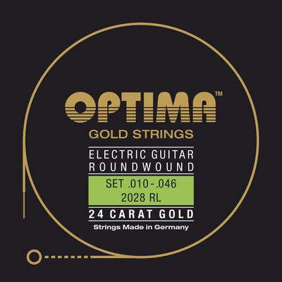 Strune za električno kitaro Optima Gold Strings