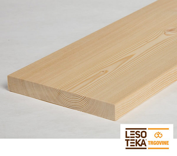Skobljane lesene deske SMREKA